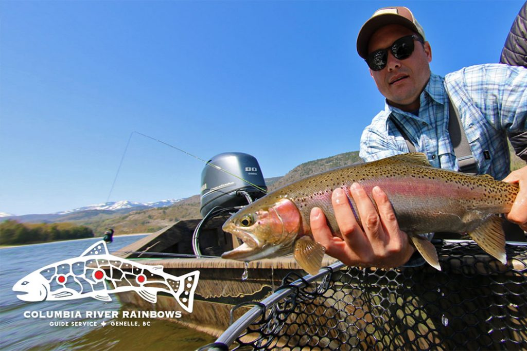 Columbia River Rainbows Fishing Tours Logo and Rainbow Trout