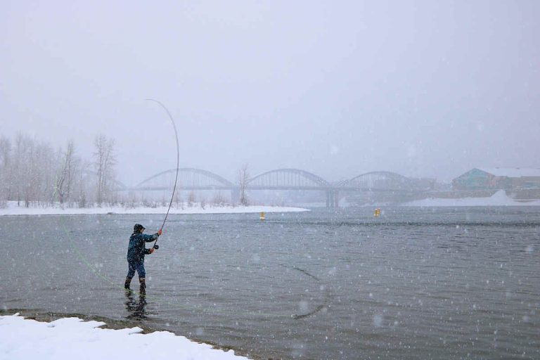 Winter Spey Casting